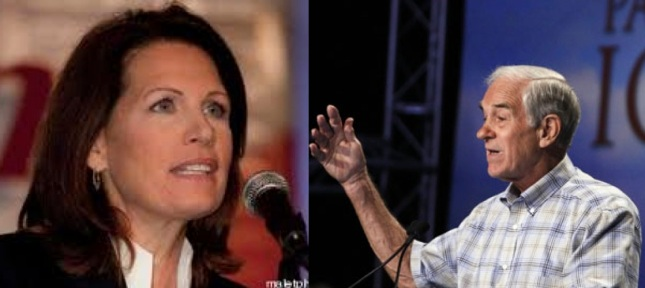 Michele Bachmann or Ron Paul