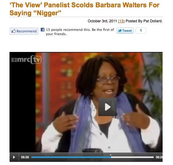 barbara walters says nigger